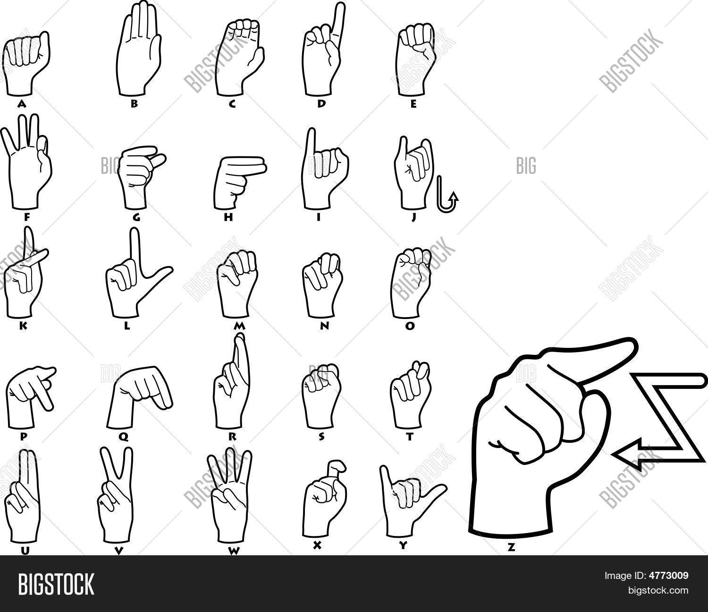 Sign Language Alphabet Vector Amp Photo