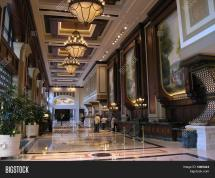 Luxury Hotel Lobby & Bigstock