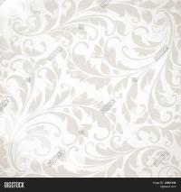 Wallpaper Floral Ornament Leafs Vector & Photo | Bigstock