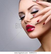 Fashion Beauty Model Girl. Manicure Image & Photo   Bigstock