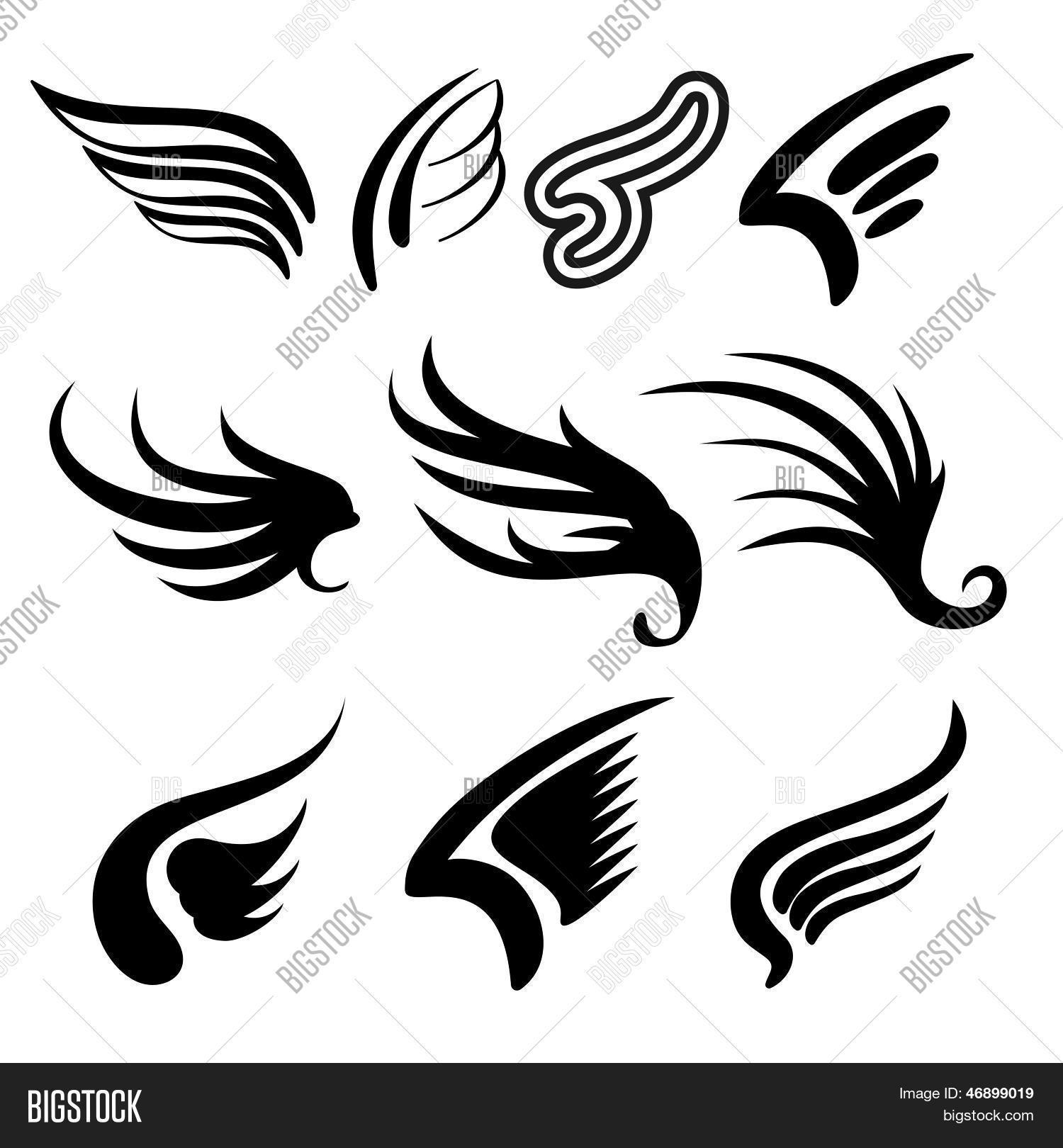 Wings Set Vector Illustration Stock Vector Amp Stock Photos