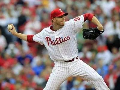 Phillies pitcher Roy Halladay's workouts are so intense that others can't make it halfway through them.