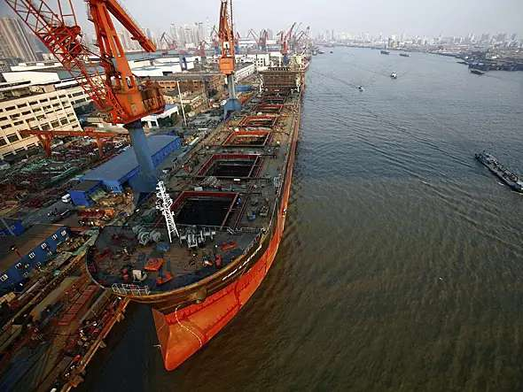 China has three times as much shipbuilding capacity per capita as the rest of the world.