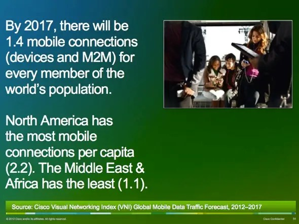 In the U.S. there will soon be more than two mobile devices per human being