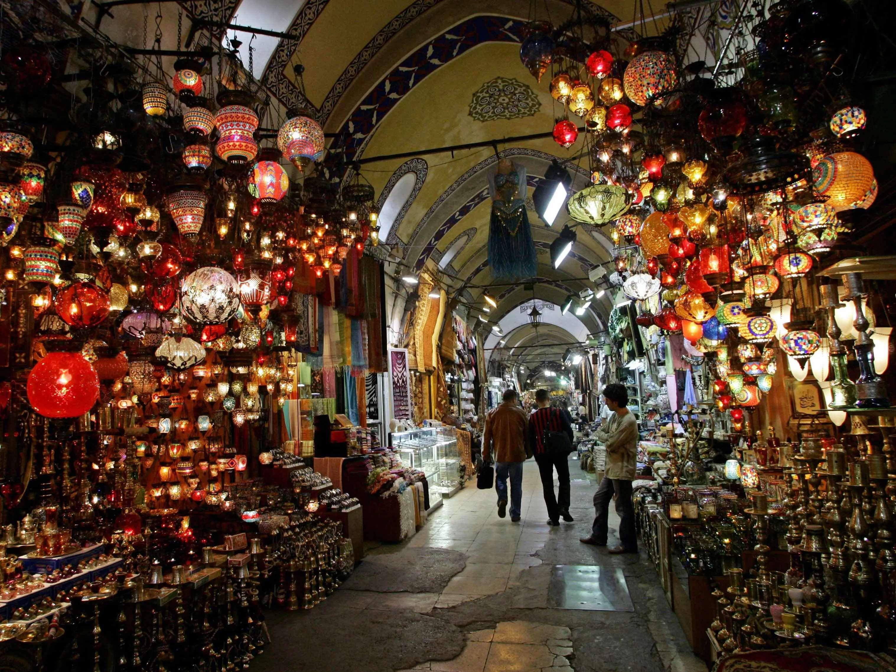 Get lost in the Grand Bazaar of Istanbul, Turkey.