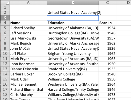 "So, VLOOKUP finds ""John McCain"" in column 1, then returns the value on the same row in column 2 of the array."