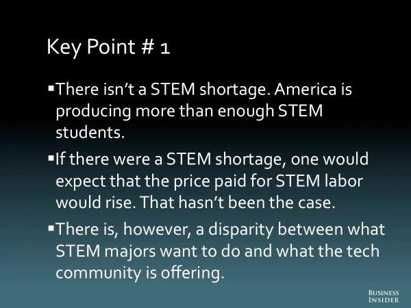 Big Education Ape Shortage Of Stem