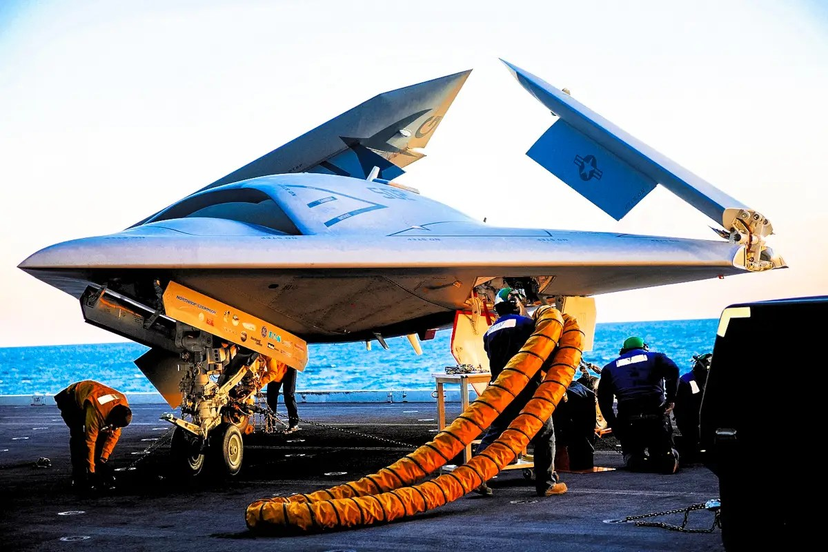 The mission operator monitors the X-47B air vehicle's operation ...