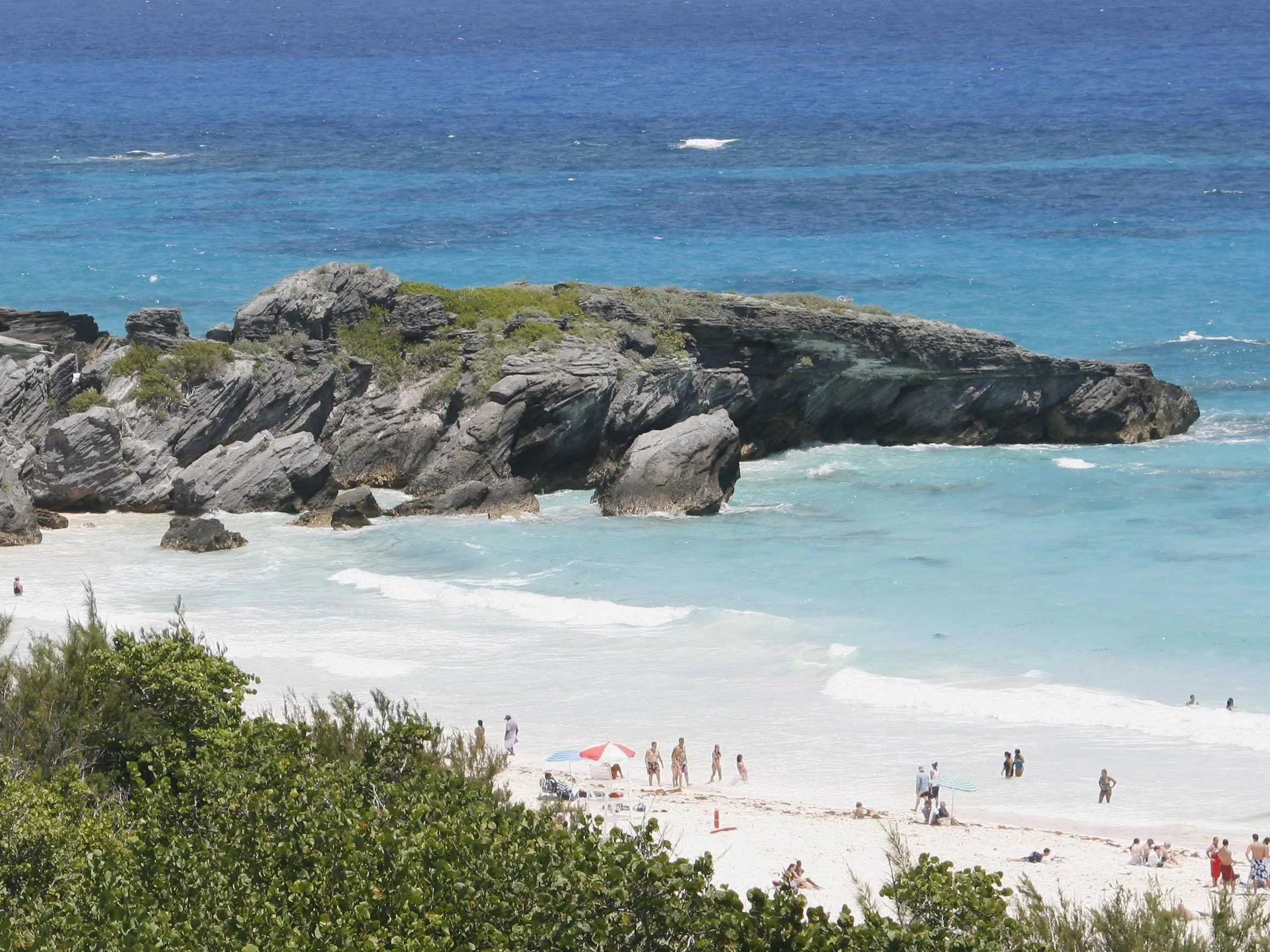 With its curved shoreline and pink sand, Horseshoe Bay is one of the most famous beaches in Bermuda.