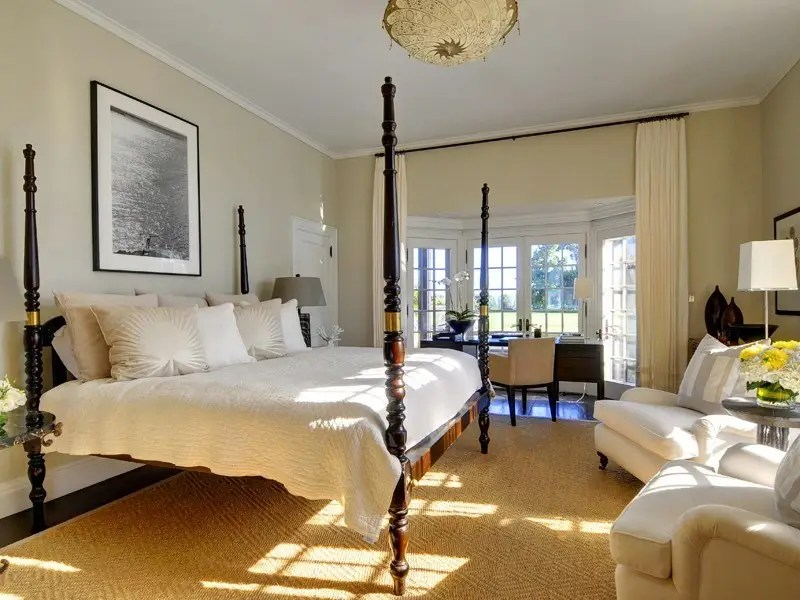 There are 10 bedrooms in the home, which look like an ad for a fancy European hotel.