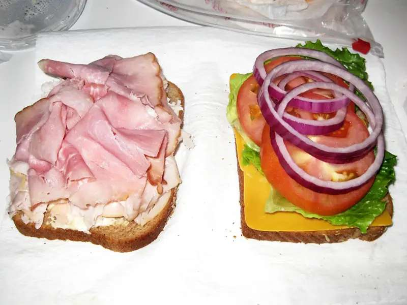 Sloppy sandwiches are for losers, so make sure you get the order right. When you make your sandwich, think about what ingredients are