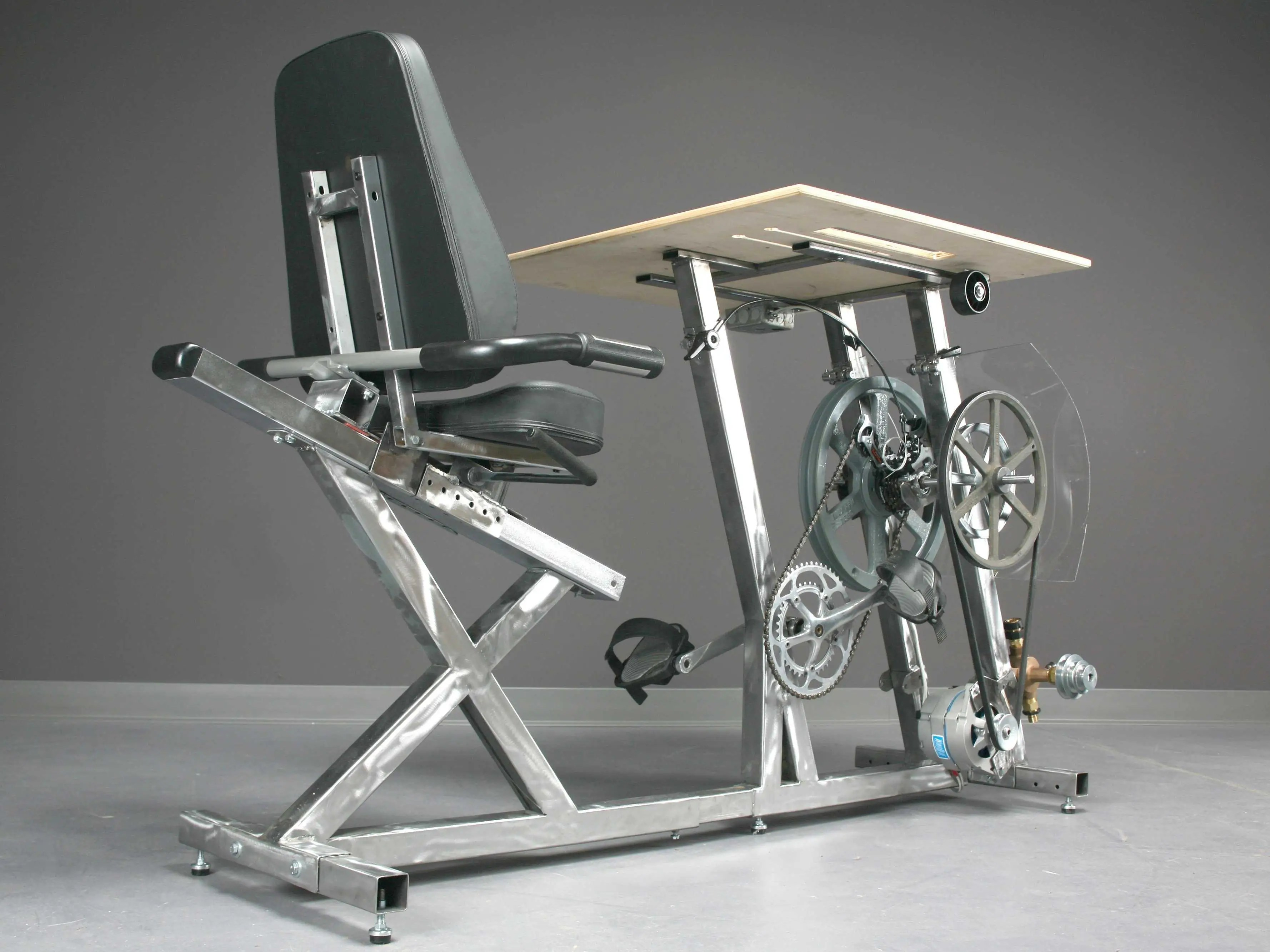 This Bicycle Desk Charges Computer  Business Insider