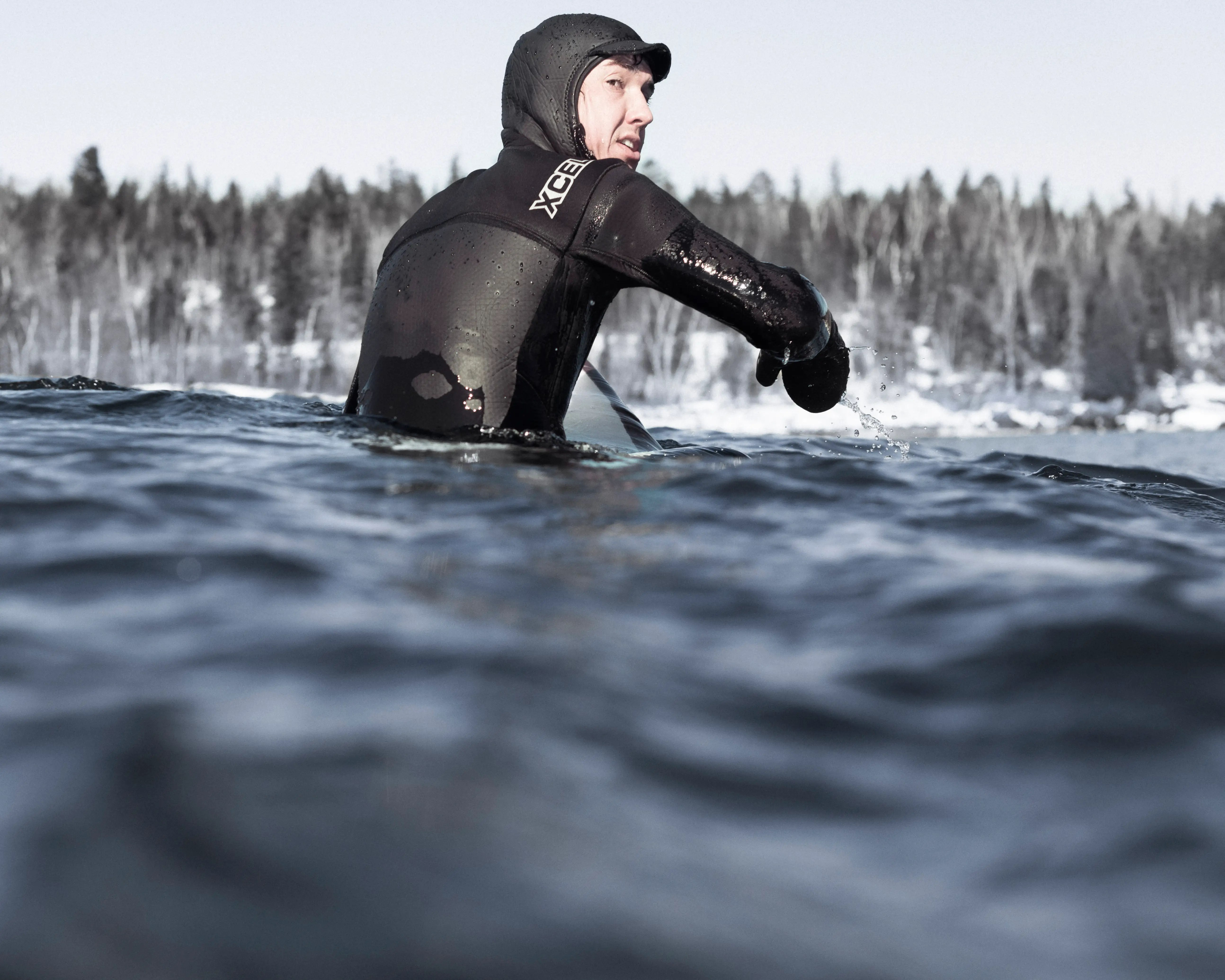 Most surfers wear the thickest type of wetsuit you can buy.