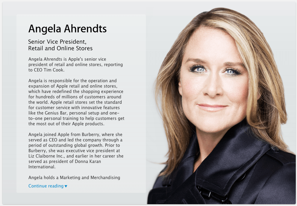 Angela Ahrendts Official Photo Business Insider