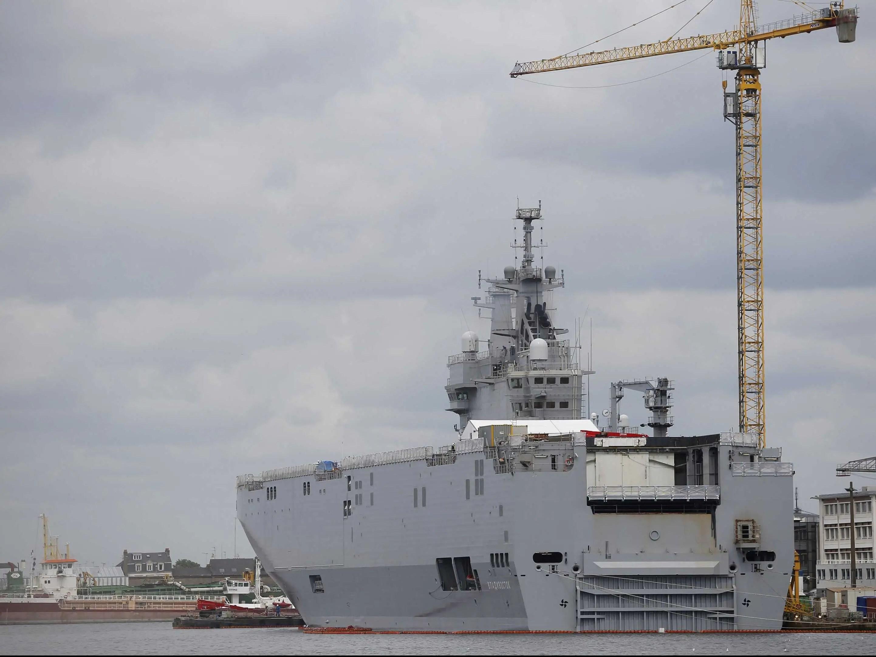 france warship