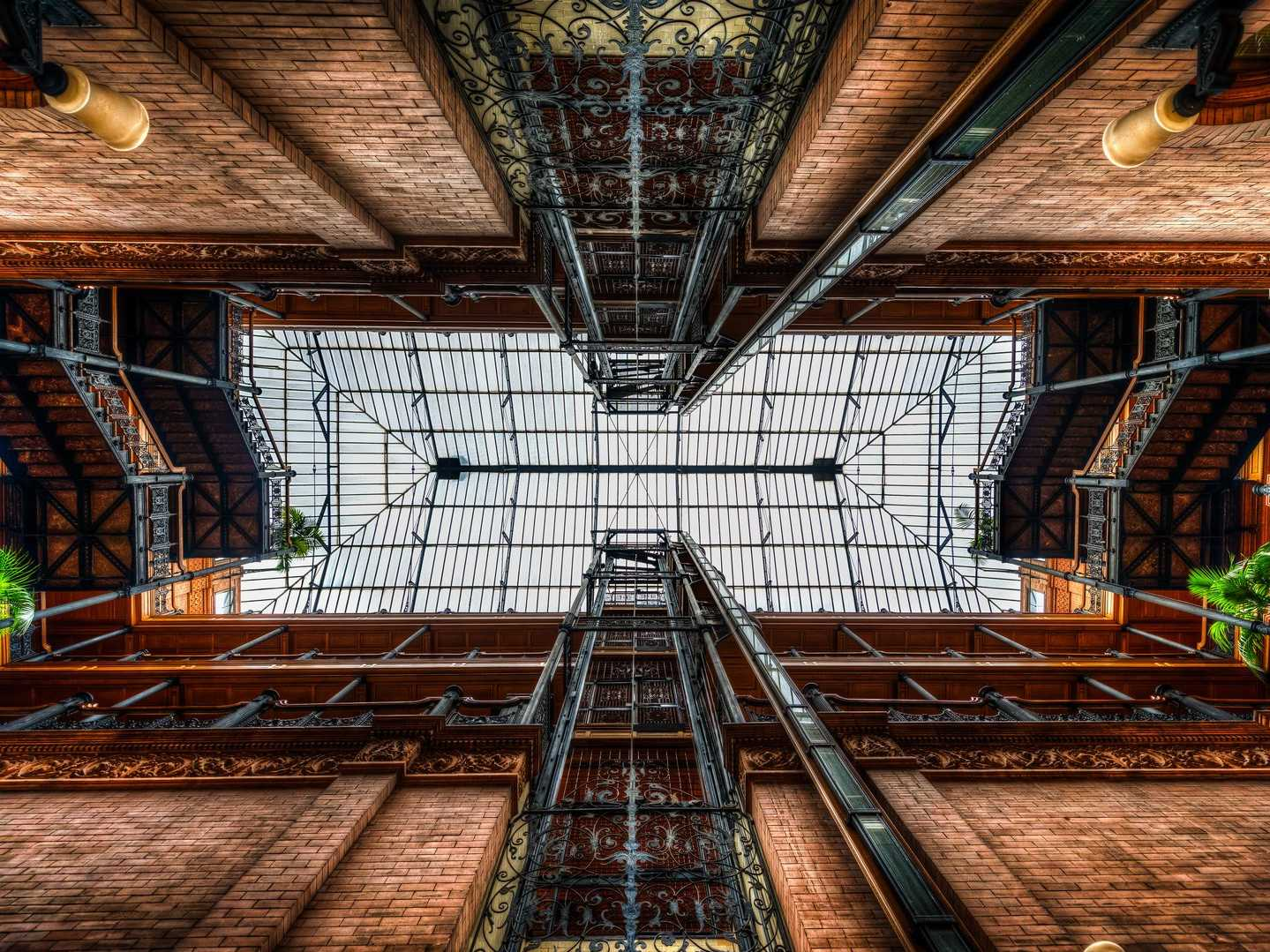 The Bradbury Building is the oldest landmarked building in Los Angeles, constructed back in 1893.