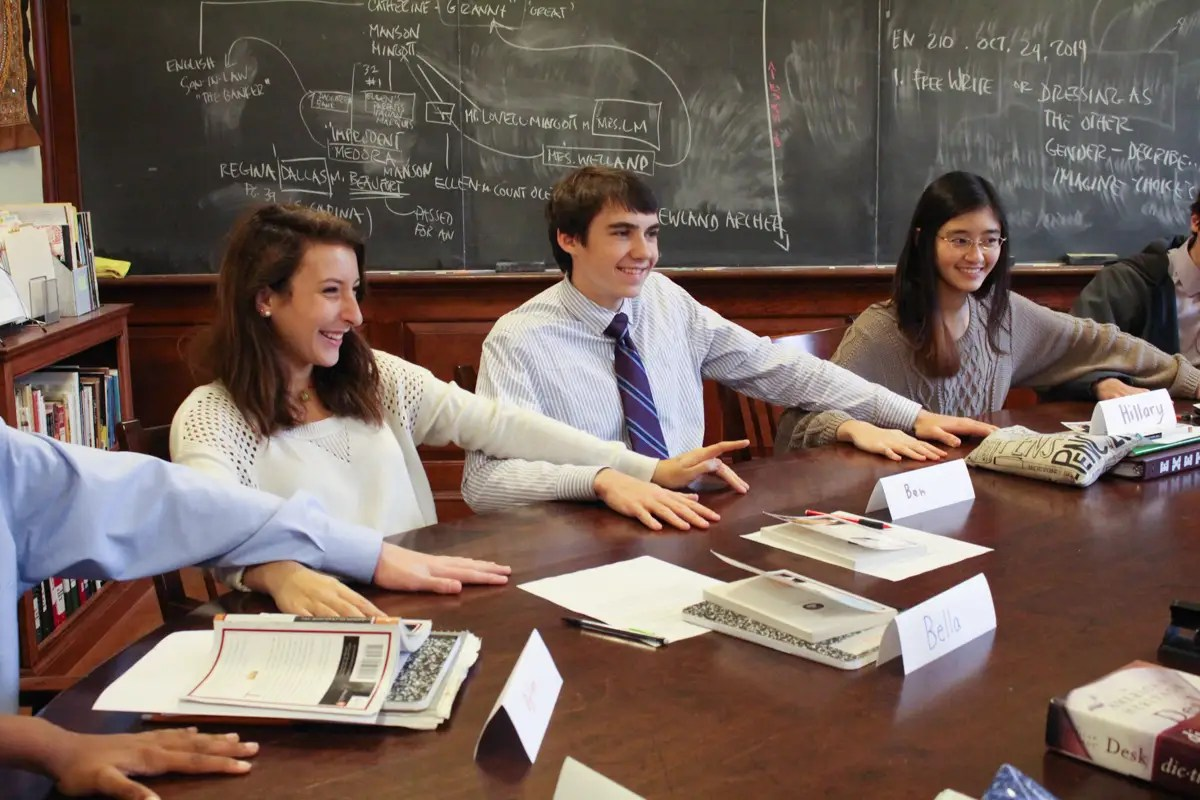 phillips exeter academy, becky moore, class, harnkess table