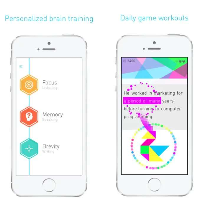 Elevate helps you improve your memory, focus, and speaking skills.