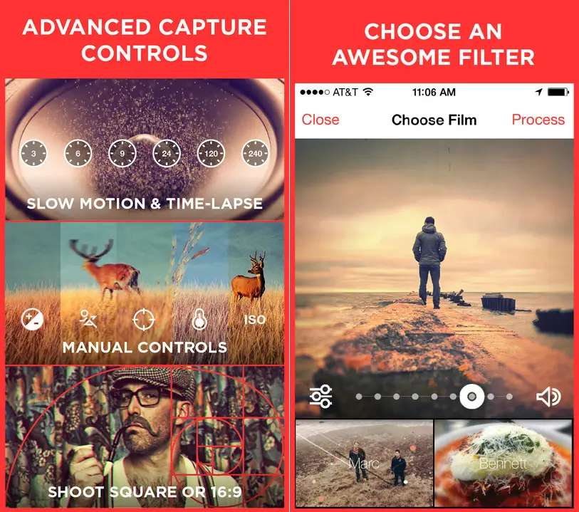 Cinamatic is a great tool for creating short films and sharing them on social media.