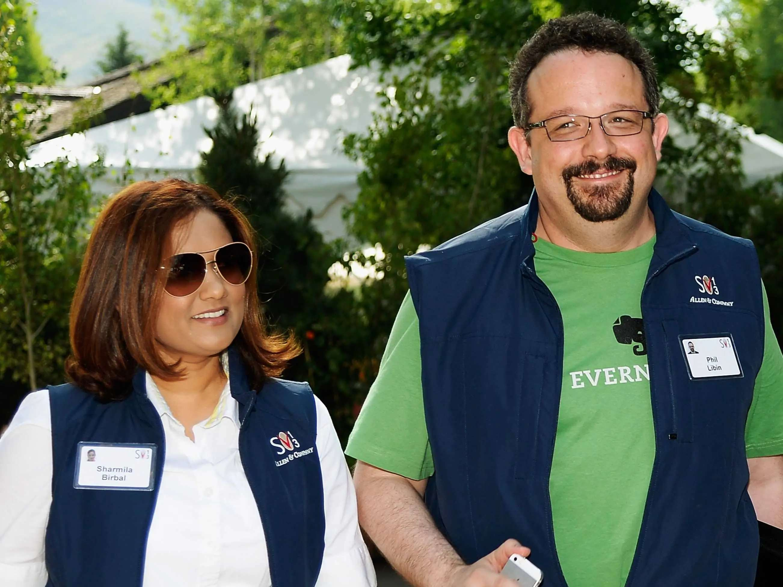 Evernote CEO Phil Libin and his wife Sharmila Birbal work together.