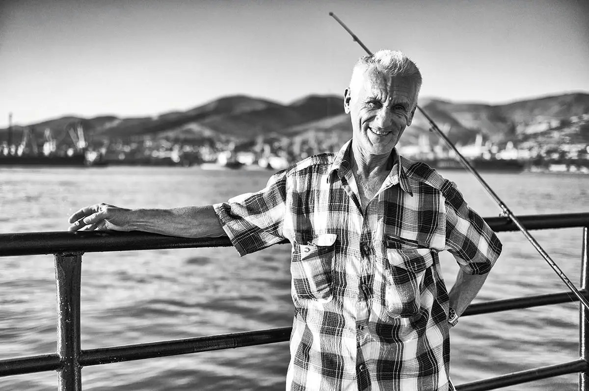 """Petr, age 59. Profession: Carpenter. Passion or Dream: """"I like to go to the sauna, and my dream is to surf the internet on my own."""""""