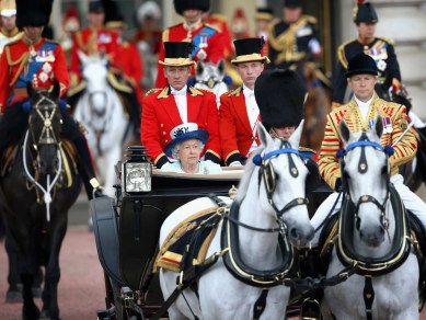 queen elizabeth ii birthday trooping the colour