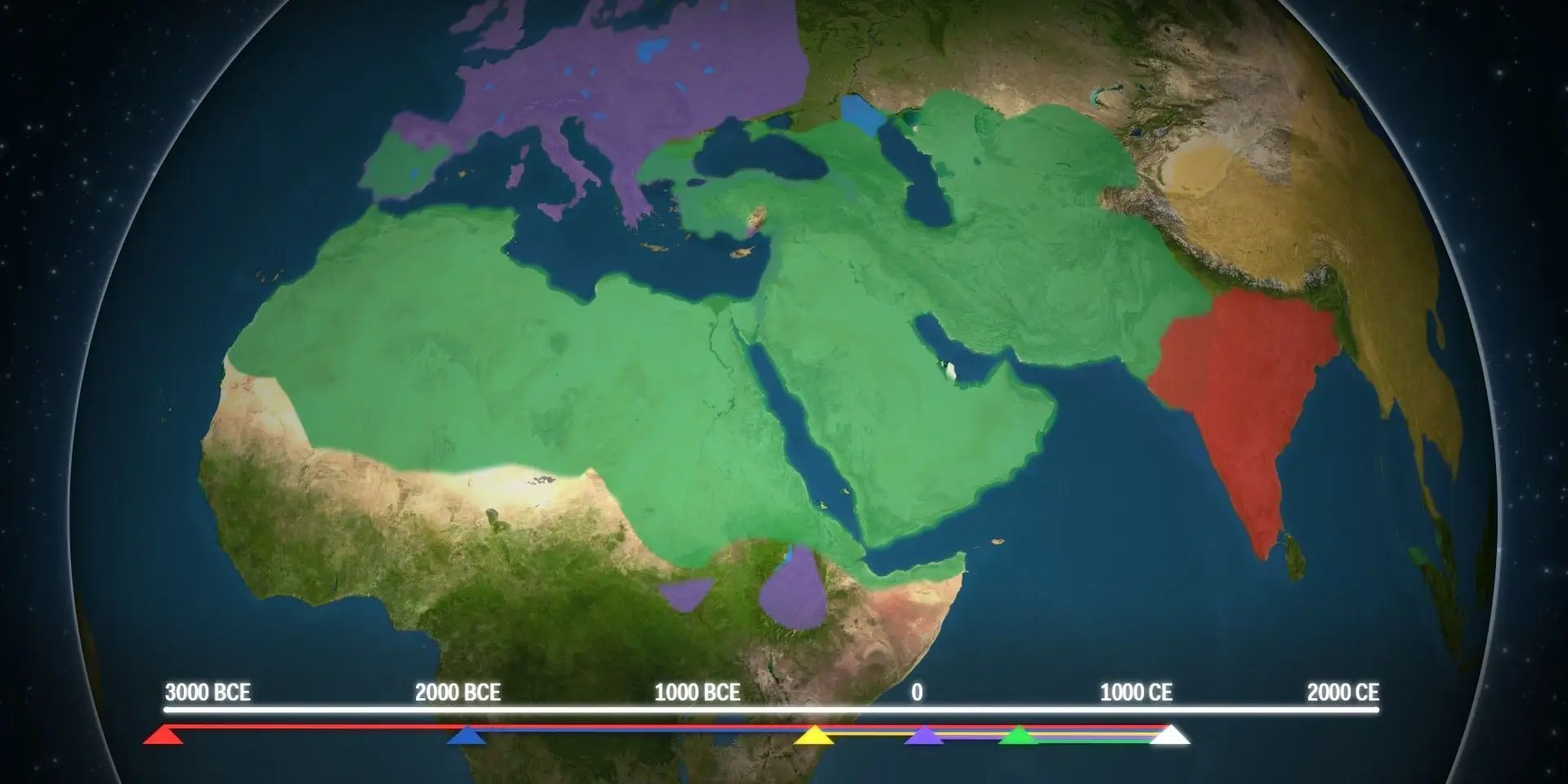 Map Shows How Religion Spread Around The World