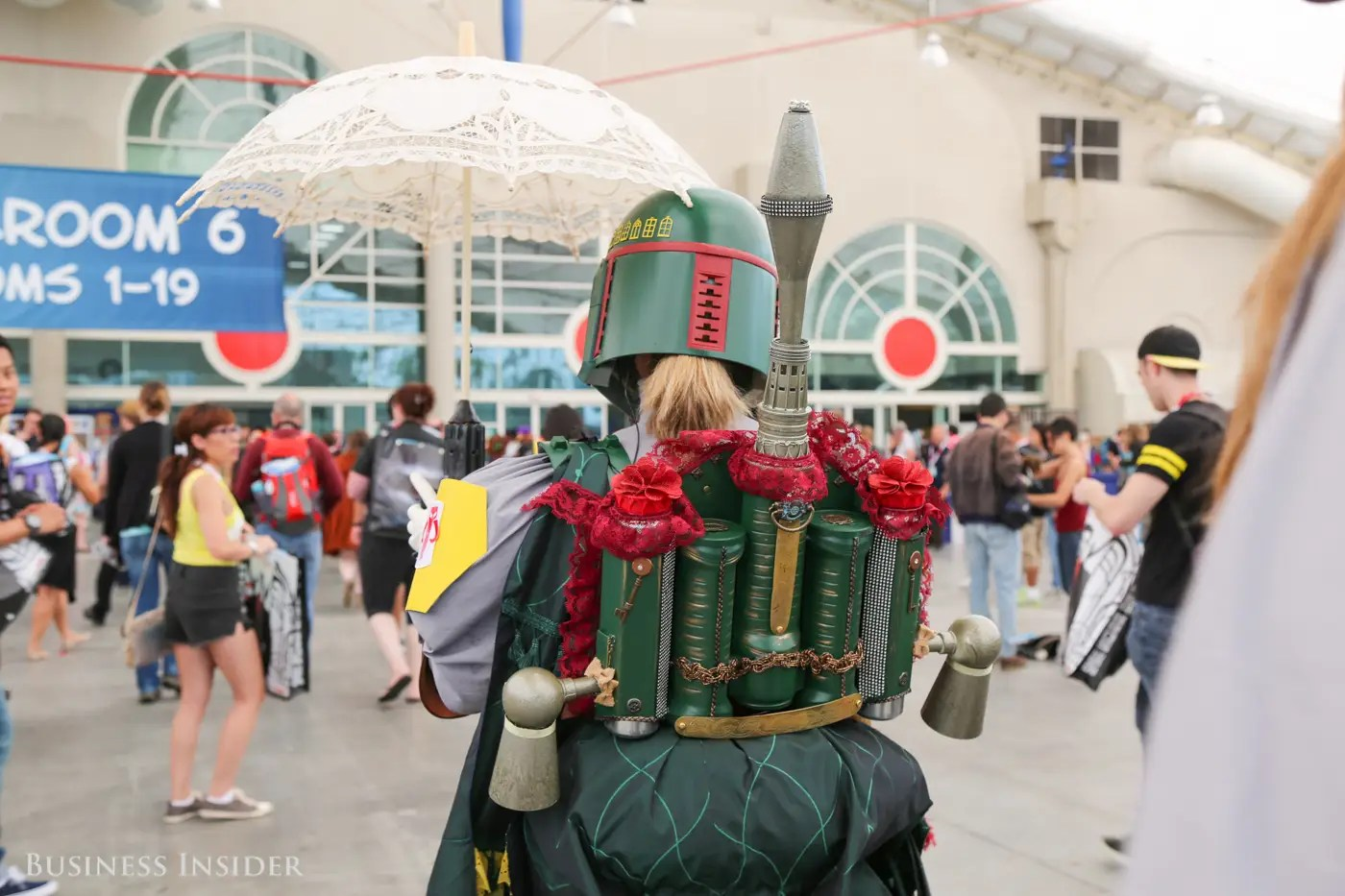 We love Boba Fett's jetpack adorned with roses.