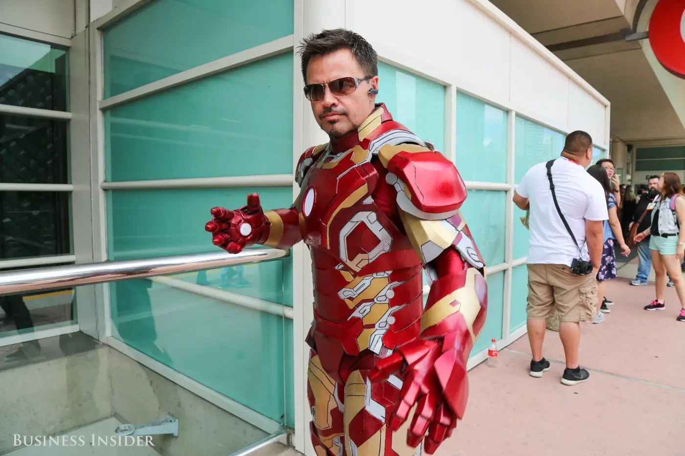 Superheroes are in no short supply. This cosplayer bears a