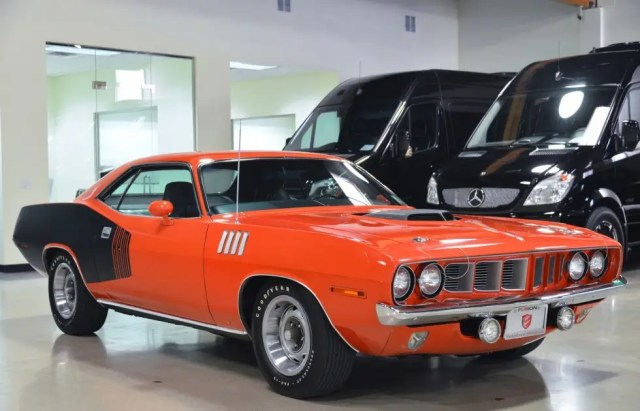4. An orange 1971 Plymouth Cuda can be purchased for $529,000.
