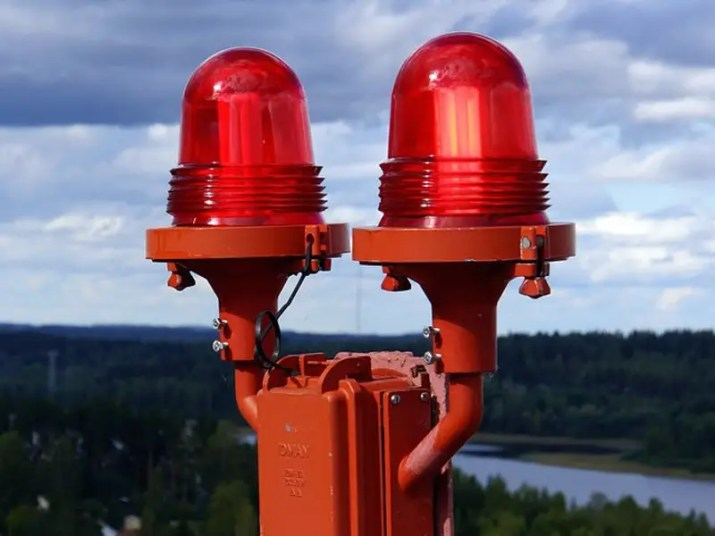 red warning lights signal