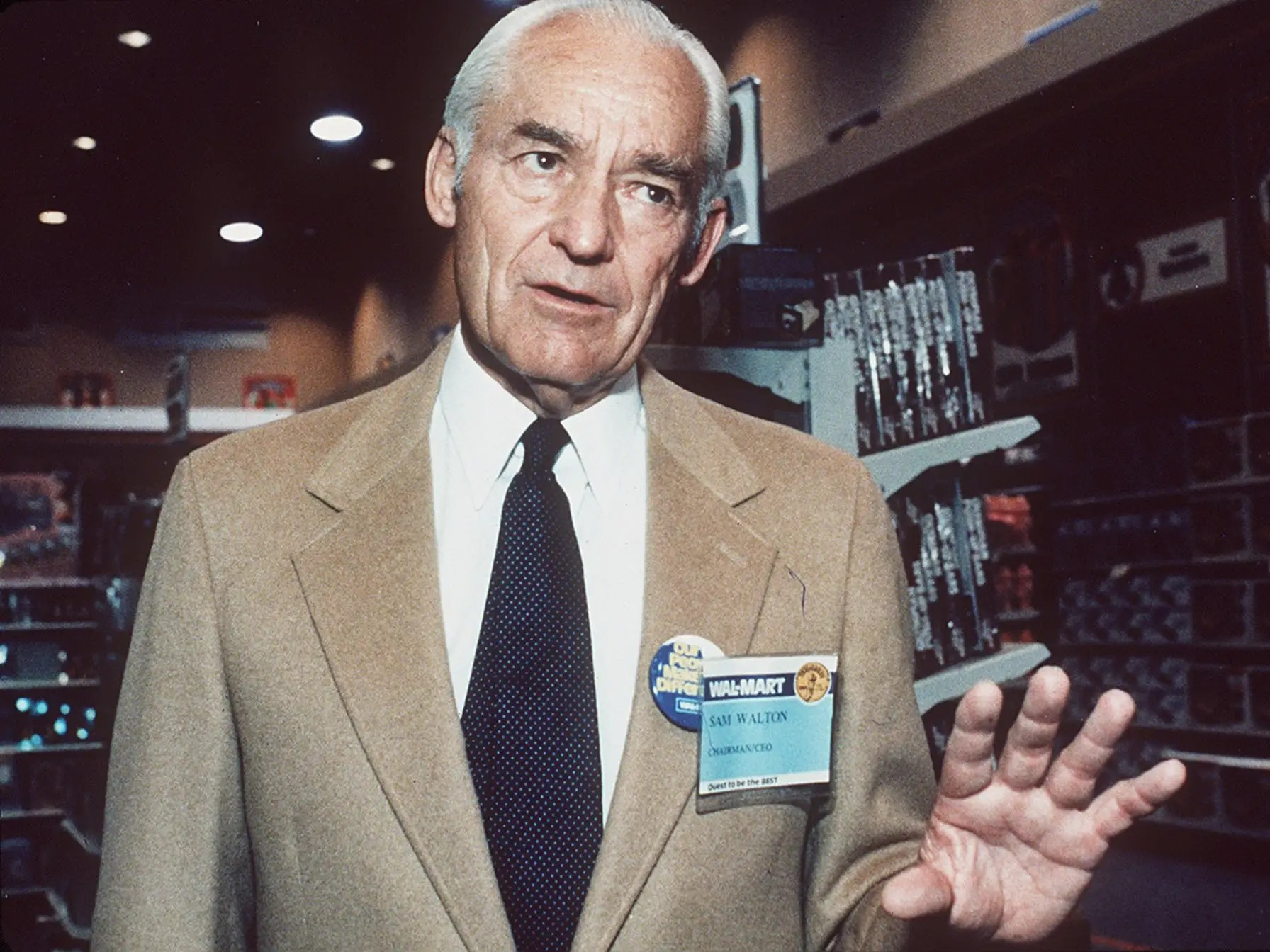 Before Sam Walton founded Walmart, he milked cows and sold magazines in Oklahoma.