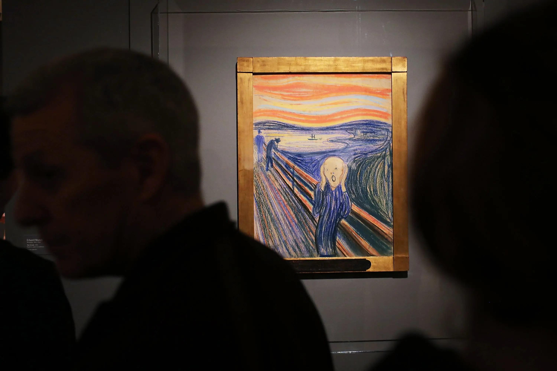 Edrard Munch's The Scream au musée Munch à Oslo, en Norvège.