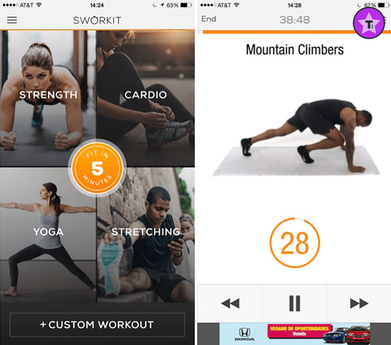 Sworkit is the best workout app.