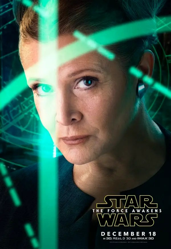 Image result for images, carrie fisher, the force awakens