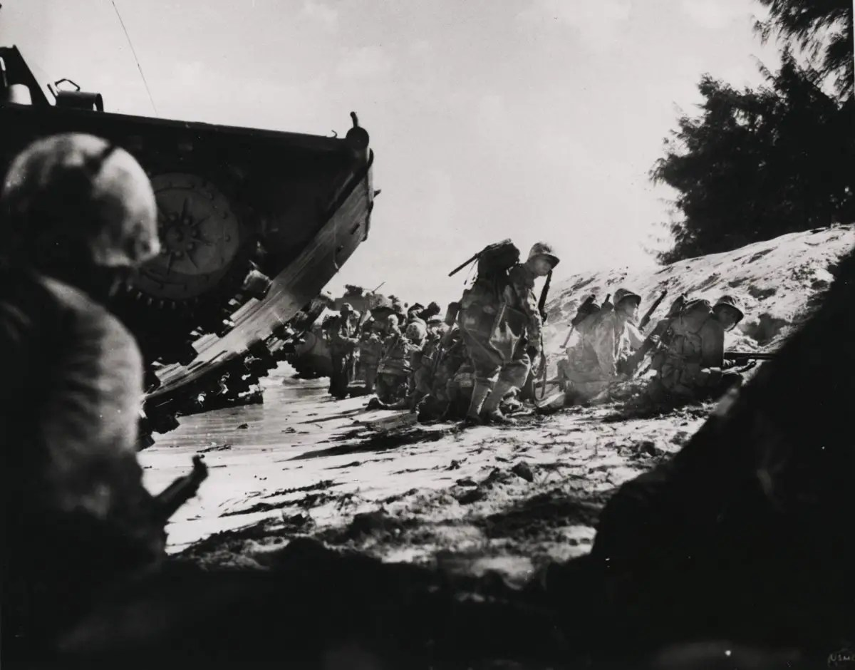 Here, Marines land on the Japanese-held island of Saipan in 1944. Amphibious warfare has been a mainstay of the Corps' operations.