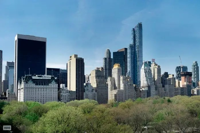 The corner unit also comes with incredible Central Park views.
