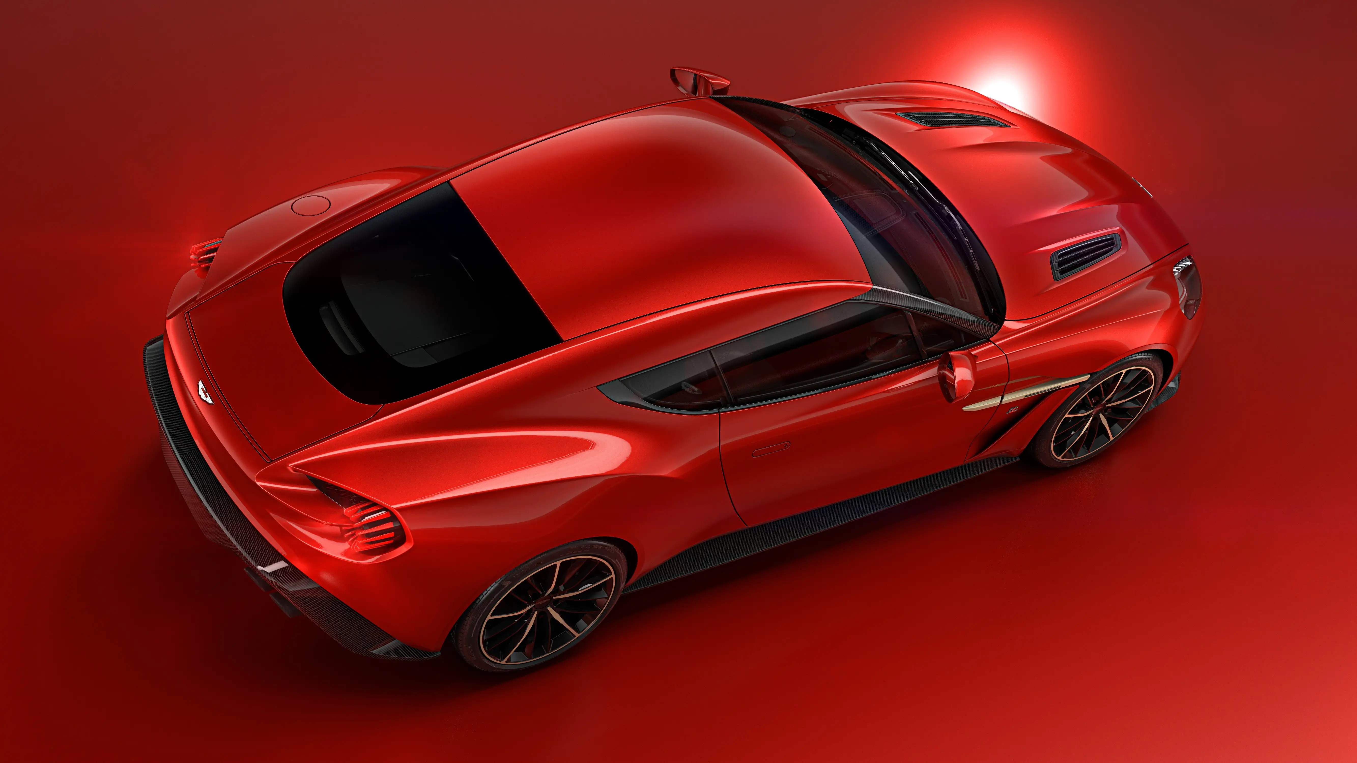 Aston Martin made the car with Italian auto design company Zagato. The two have worked together since 1960.