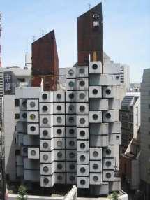 Nakagin Capsule Tower In Tokyo Stack Of