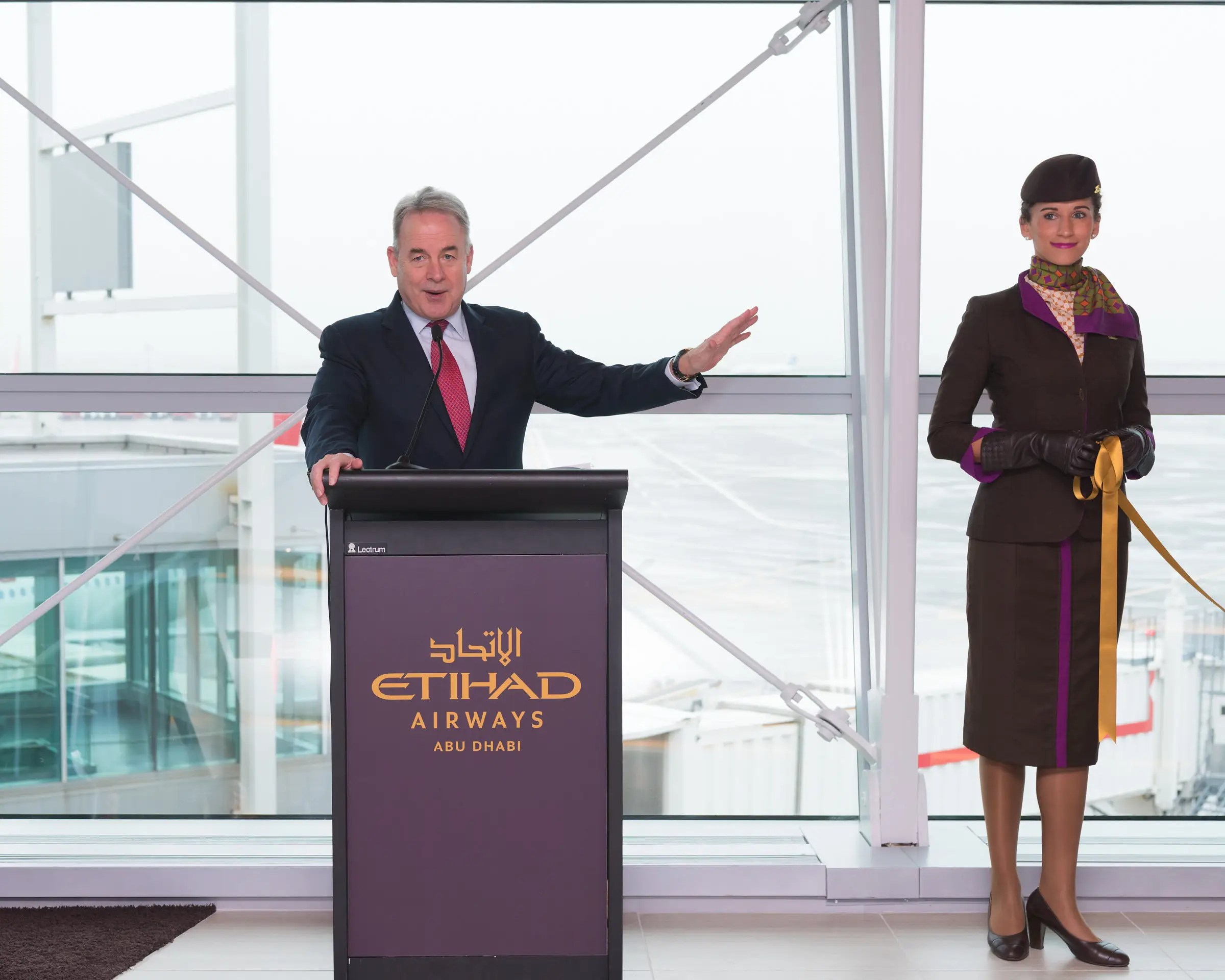 The facility was opened last December by airline CEO James Hogan.