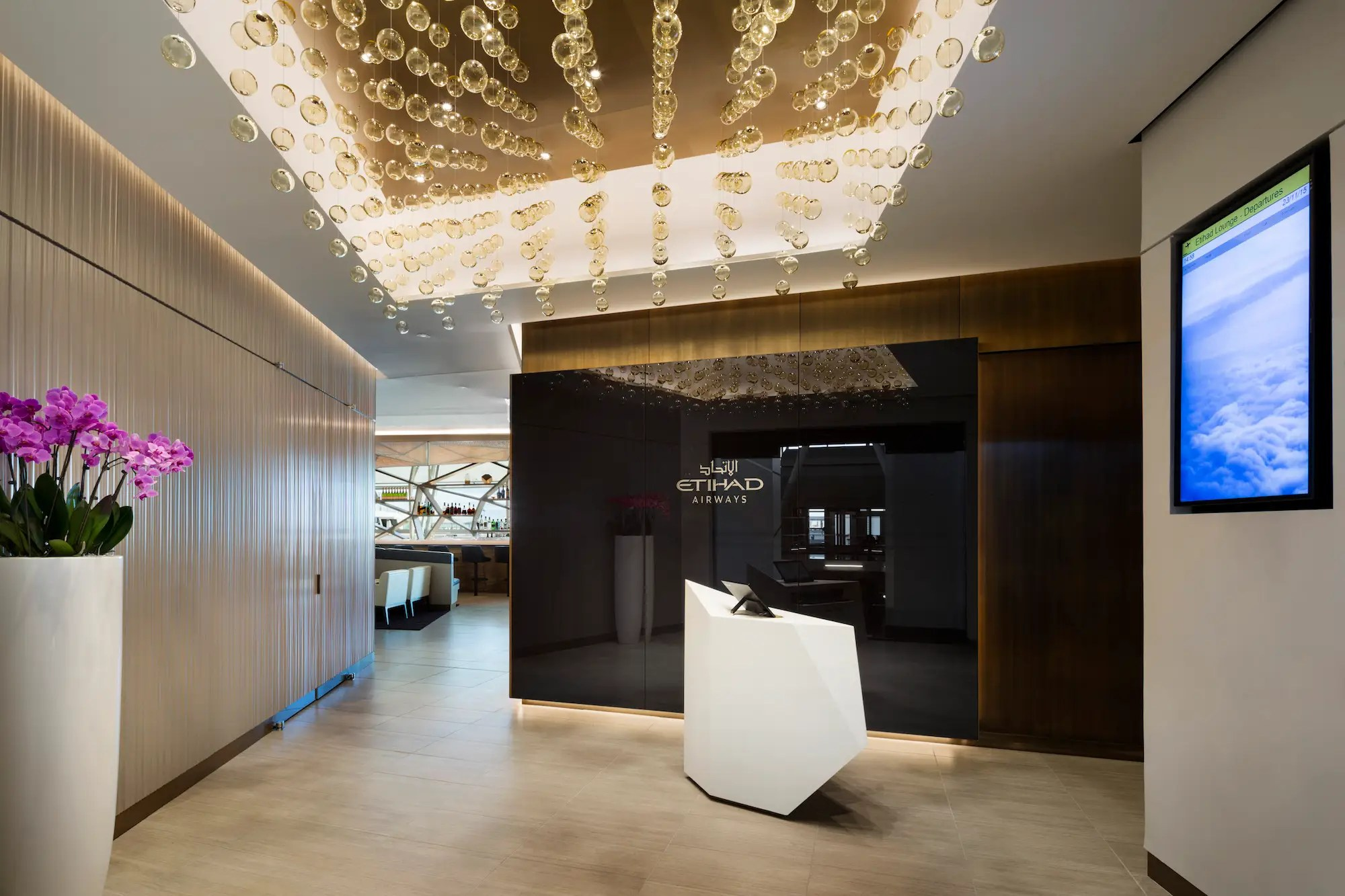 Located in Terminal 4 at JFK, the lounge is stylish and modern without being garish.