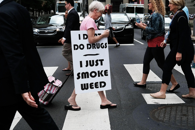 marijuana pot weed drugs protest