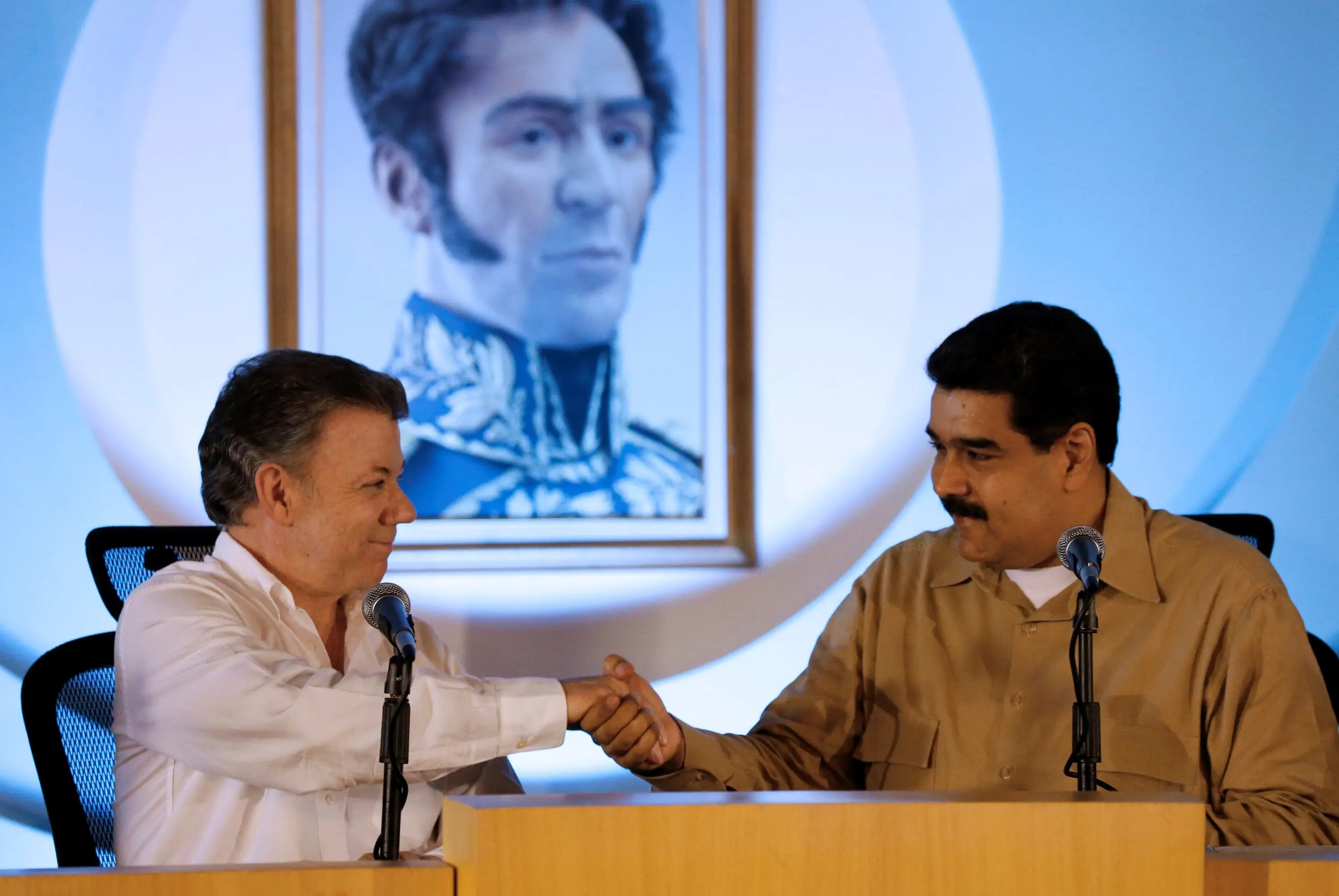 Presidents of Venezuela and Colombia