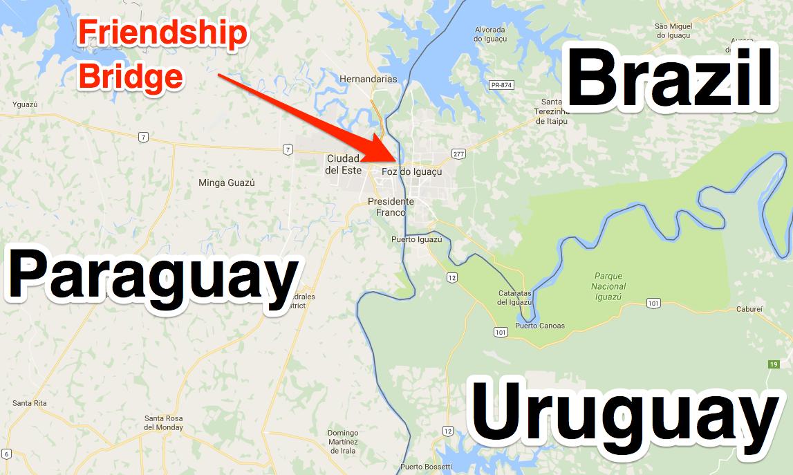 Tri-border area Brazil Paraguay Uruguay