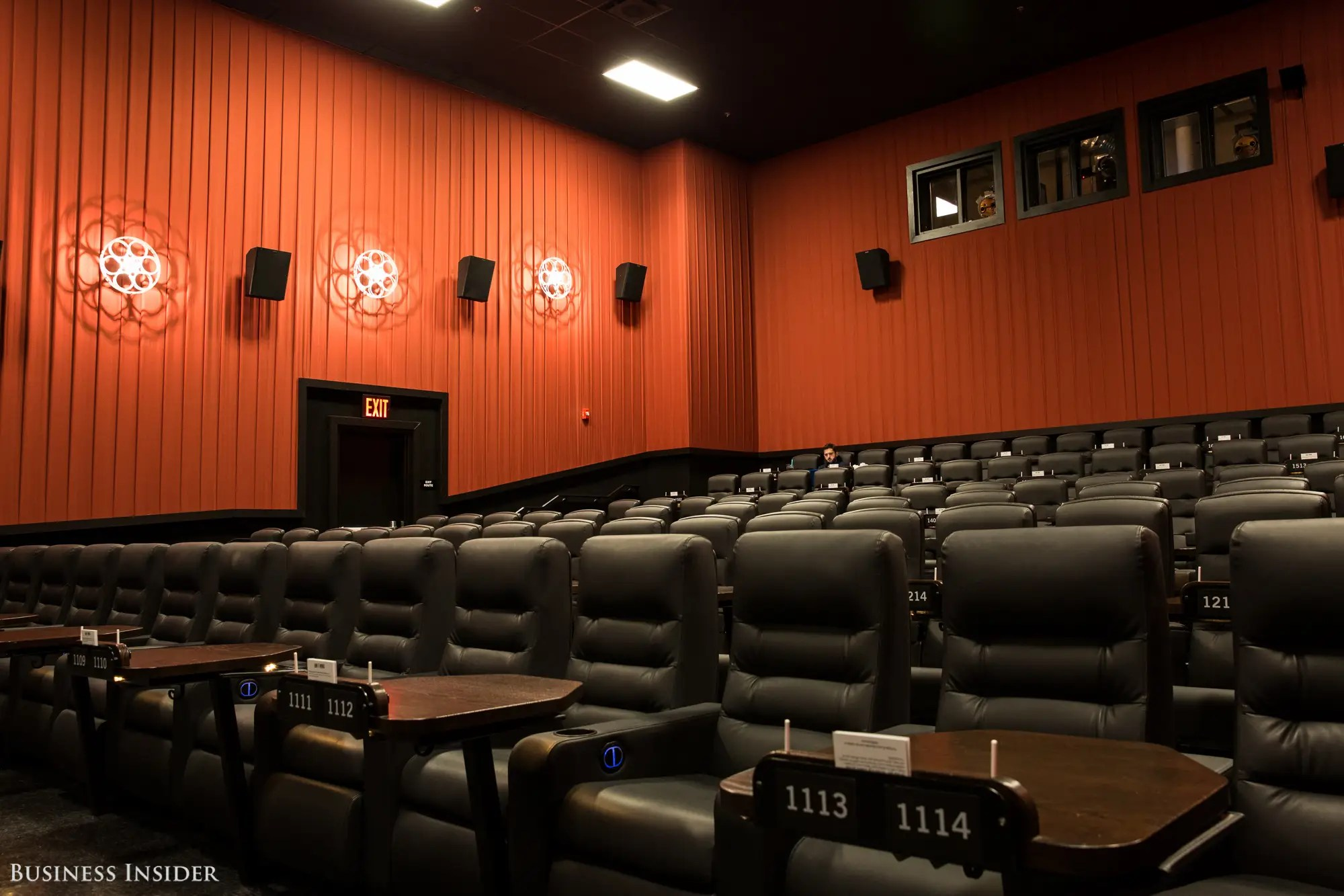 chairs at staples chair leg noise reduction alamo drafthouse in brooklyn new york: inside the luxury movie theater - business insider