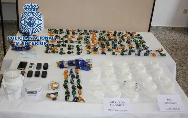 Meth drug smuggling Spain