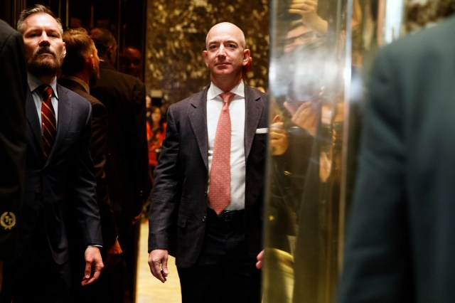 Jeff Bezos Trump Tech meeting