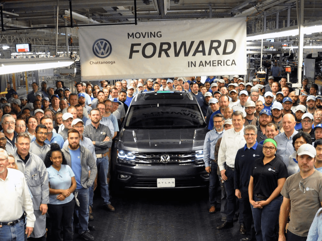 VW Volkswagen atlas factory