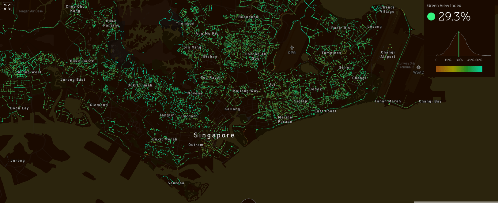 Voici la carte de Treepédia de Singapour: