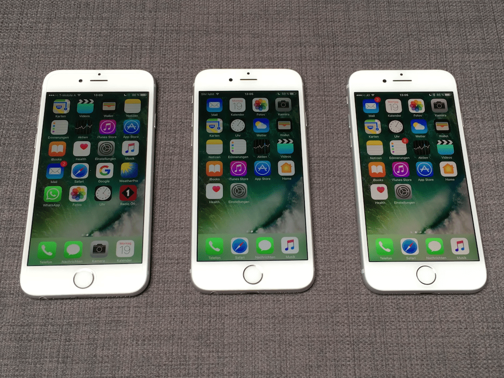 The iPhone 7 and iPhone 8 have a slightly better screen, but it's not a meaningful change.
